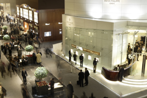 The Patek Philippe exhibition space in the Watch Hall at Baselworld 2009