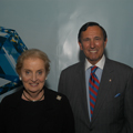 Former U.S. Secretary of State and GIA Symposium keynote speaker, Madeleine Albright, and GIA Chairman, Ralph Destino