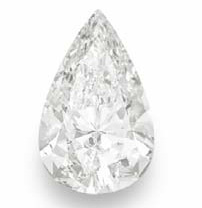 Pear-shaped diamond ring of 30.02 cts., photo from Christie's