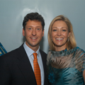 Nadja Swarovski, vice president of the internationally renowned crystal and gem house, Swarovski, and GIA symposium attendee Stephen Kahler at the Gala