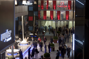 The Omega exhibition space in the Watch Hall at Baselworld 2009