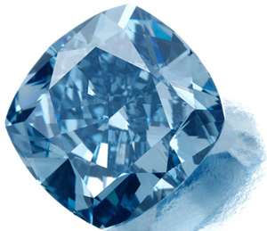 7.03-ct. fancy vivid blue diamond from Cullinan diamond mine