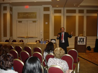 "David Richardson, of Richardson Resource Group, gave seminar attendees ""The 25 Greatest Sales Tips Ever"" during JCK Las Vegas."