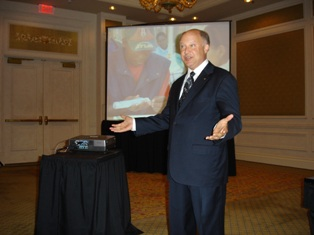 Jim Fiebig of SellMoreColor.com encouraged jewelers at JCK Las Vegas to consider more color in their inventory.