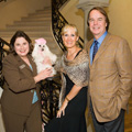 Jonnie England, Karen and Denis Boulle with one of Dallas's furry socialites at deBoulle Goes to the Dogs