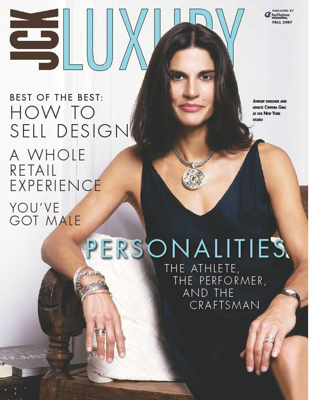 Cynthia Gale on the cover of JCK Luxury magazine