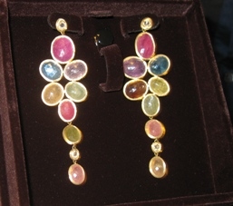 Colored sapphire earrings from Marco Bicego