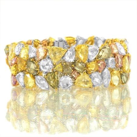 Leibish & Co. Tutti Frutti diamond bracelet