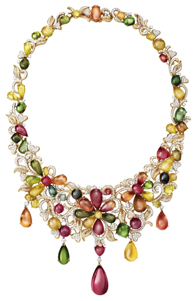 Lorenzo rainbow tourmaline necklace