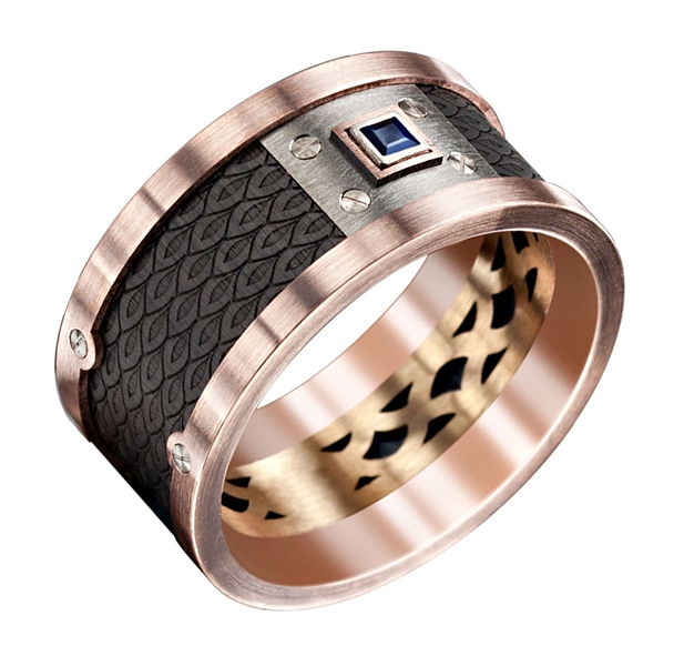 Malo Creations Marni titanium wedding band