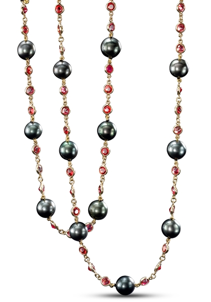 Mastoloni Pearls pearl and gemstone opera necklaces