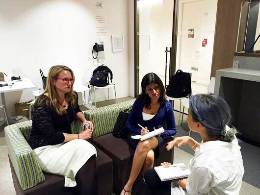 Yours truly mentoring fledlging jewelry designers last night at the WJA-GIA mentoring event in Manhattan.