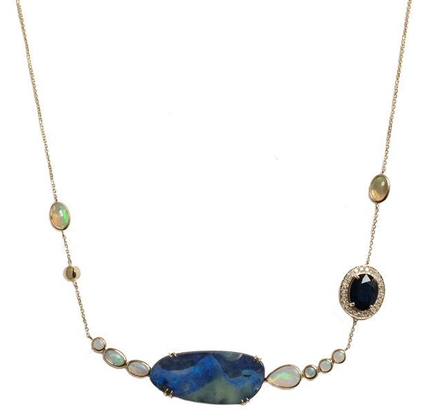 Meredith Marks Sylvia opal necklace