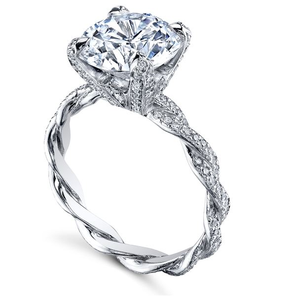 Michael B Petite Infinity diamond engagement ring