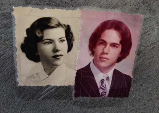 Old photos of Scott Kay and his mother