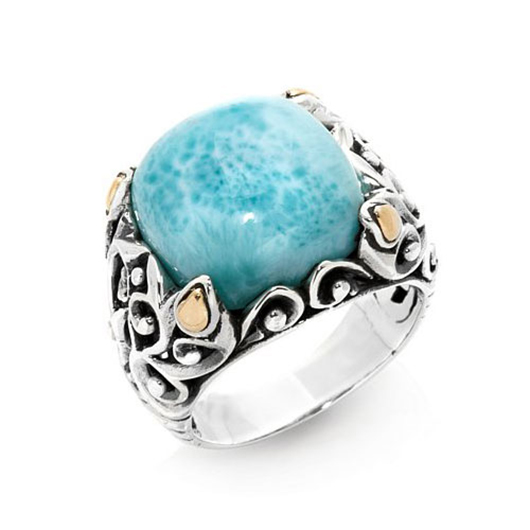 Silver ring with larimar from Robert Manse Designs