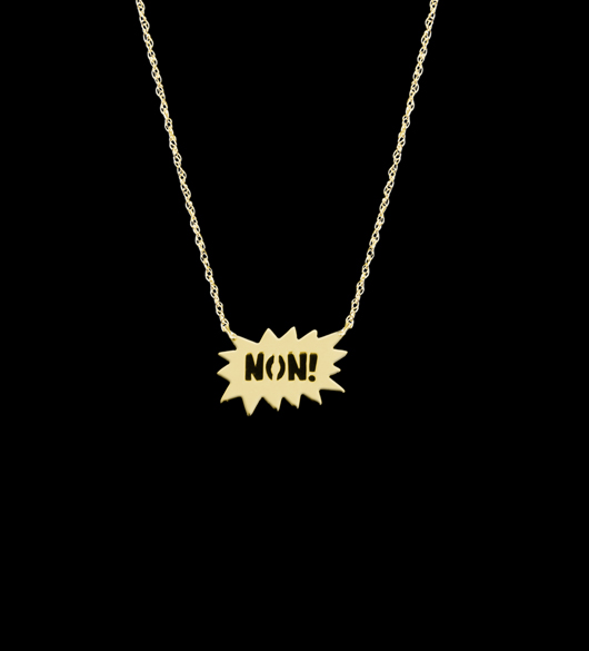 Non necklace designed by an editor and made by Jane Basch