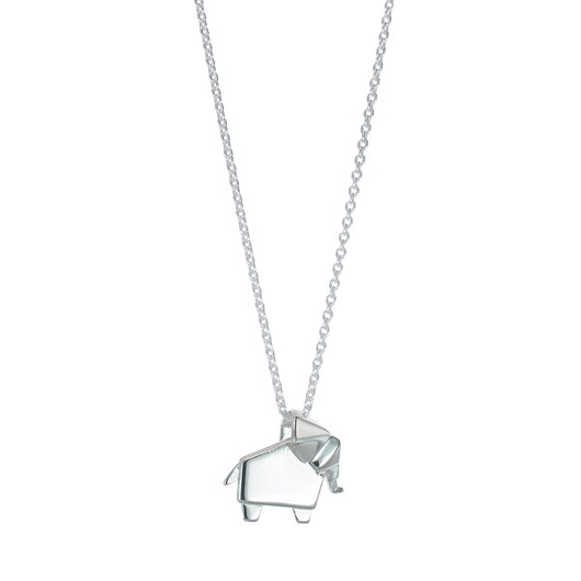 Origami elephant necklace from Boma
