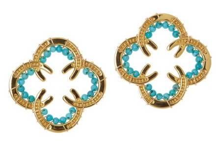 Rebecca Hook turquoise horseshoe earrings