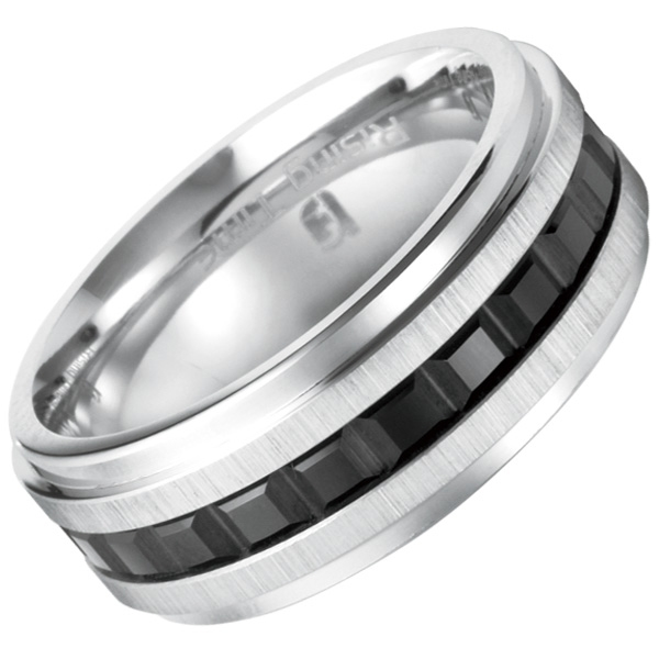 Rising Time cobalt carbide wedding band