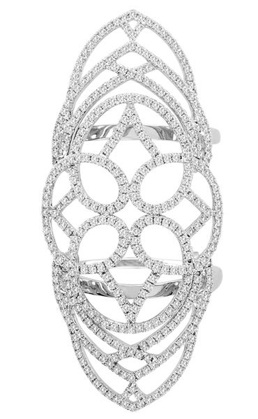 Royal India USA diamond filigree finger ring
