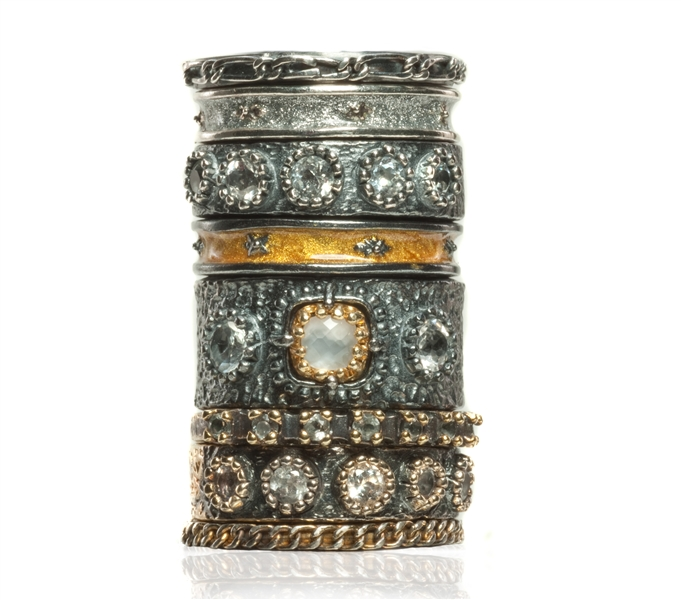Sara Blaine antiqued stacking rings