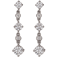 Courtesy Of Gemesis Diamond Company Drop Earrings In 18k White Gold With 1 41 Cts T W Lab Created Diamonds 2 724 25 Sarasota Fla