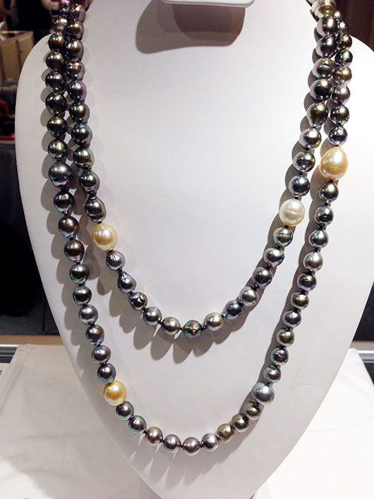 Fifty-one-inch-long strand of South Sea pearls from Tri Gem Pearls