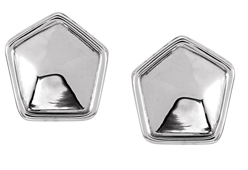 Stuller geometric solid stud earrings