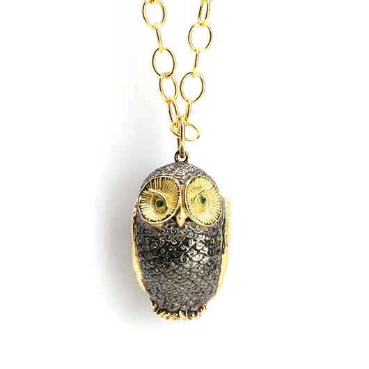 Syna owl necklace
