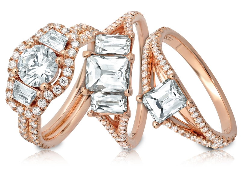 Tycoon rose gold bridal collection