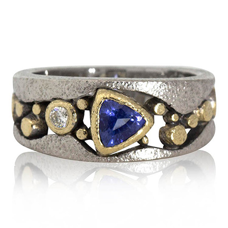 small_narrow_river_pebbles_ring_trillion_sapphire_rona_fisher.jpg