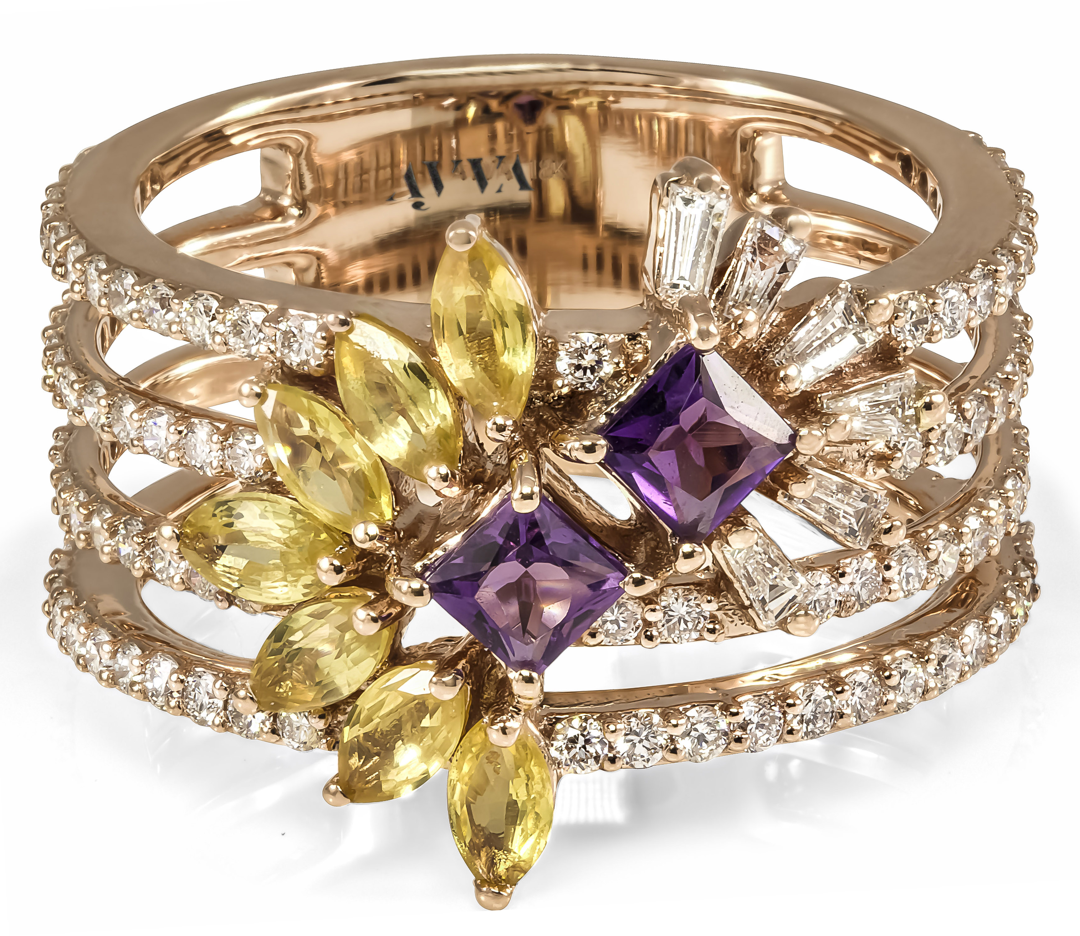Ayva yellow sapphire and amethyst Alina ring | JCK On Your Market