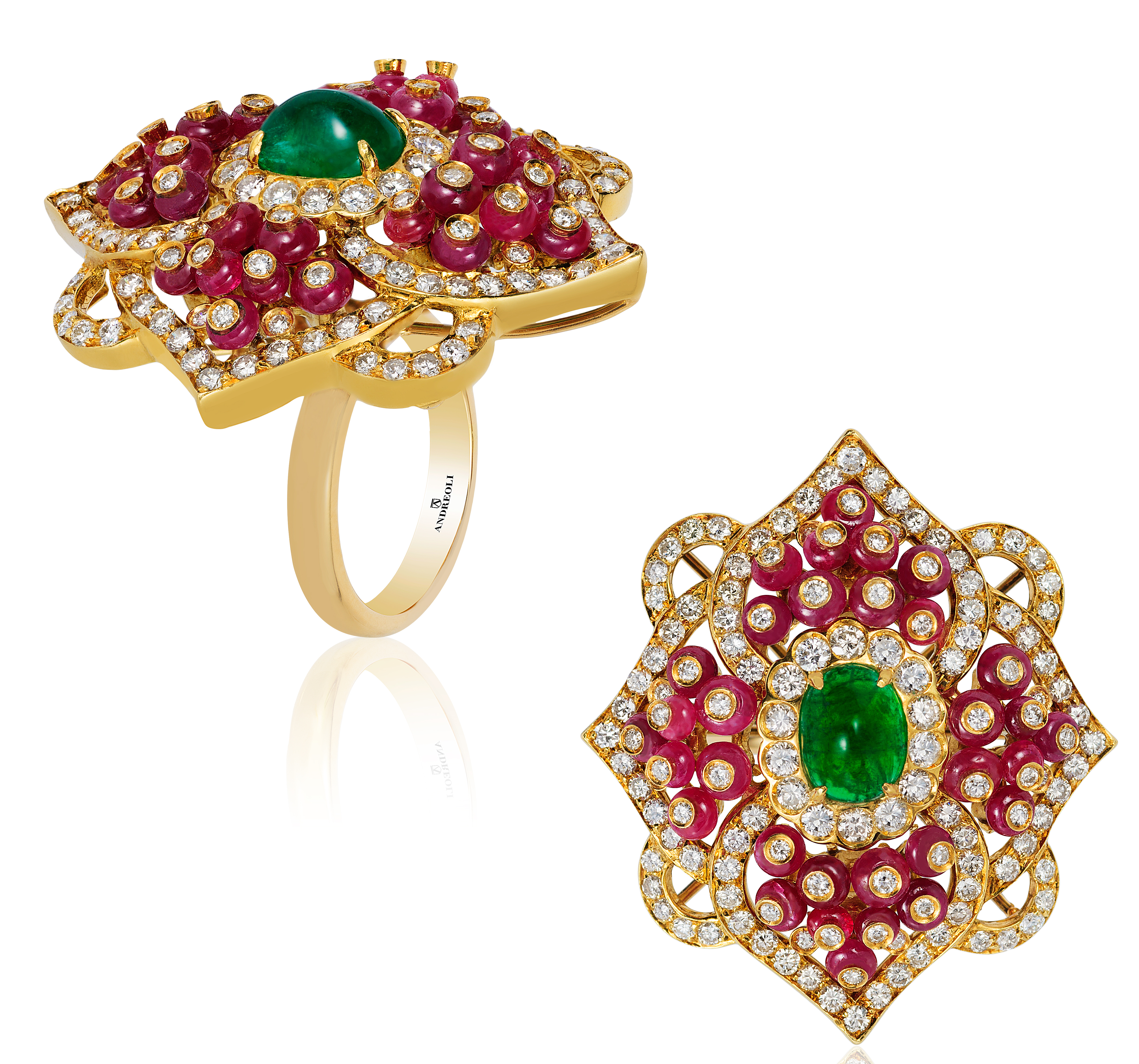 Andreoli ruby and emerald ring | JCK On Your Market