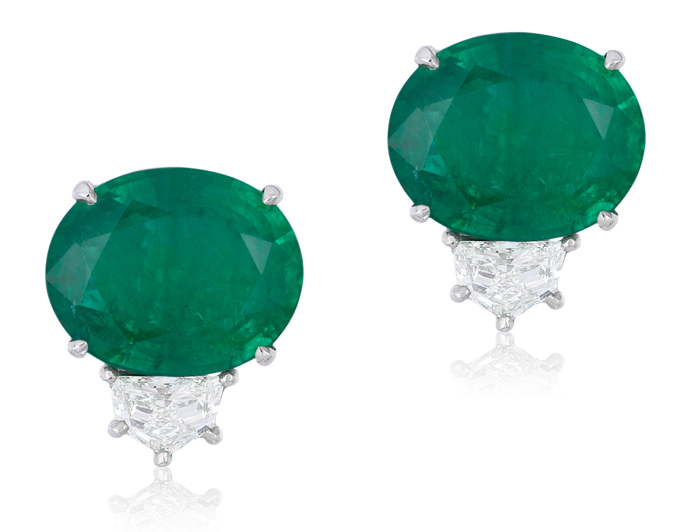 Andreoli emerald and diamond earrings | JCK On Your Market