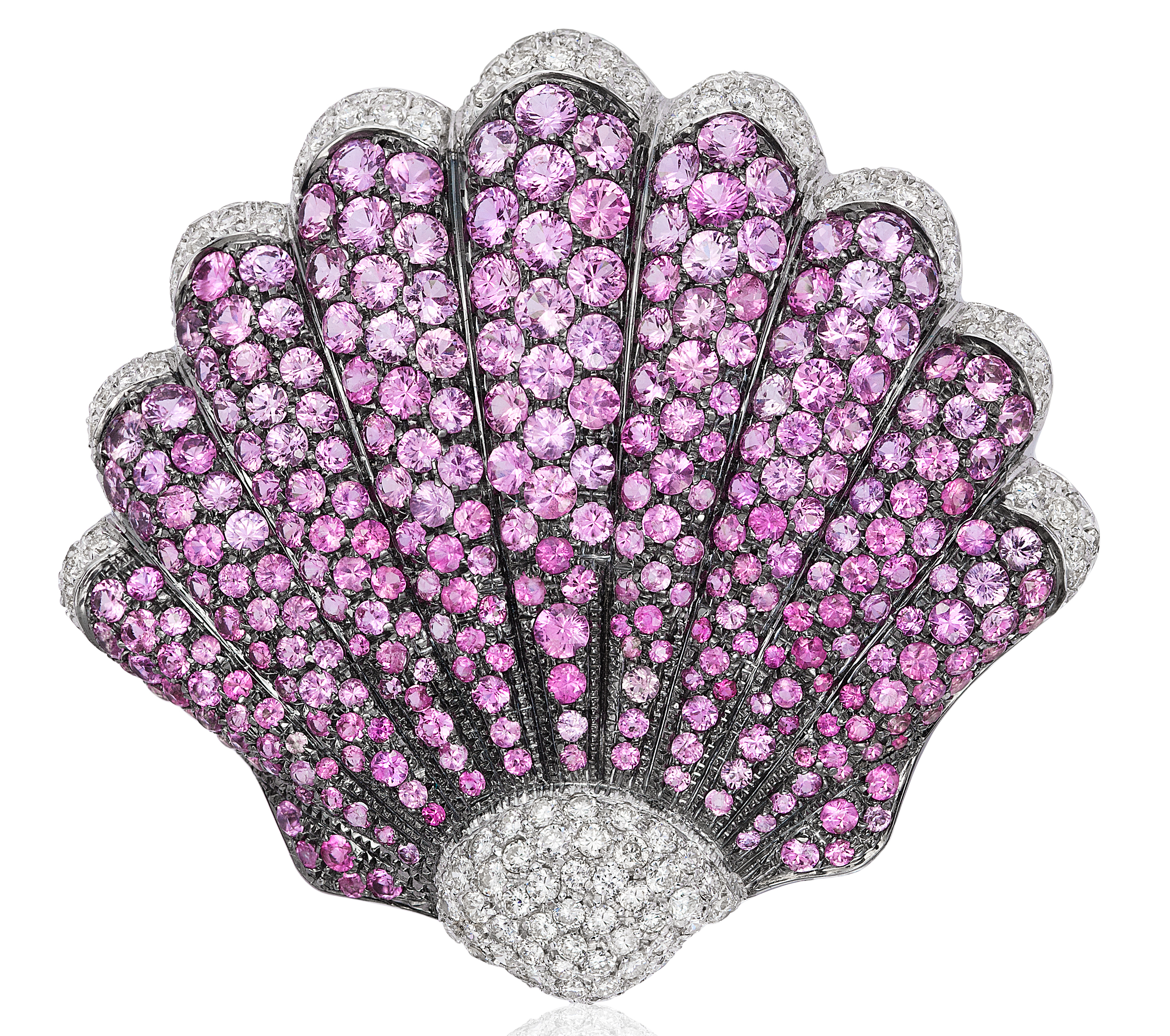 Andreoli pink sapphire shell brooch | JCK On Your Market