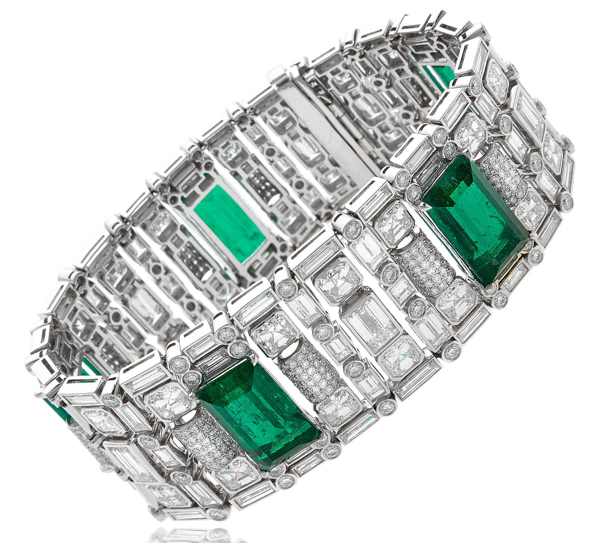 William Noble platinum diamond and emerald bracelet | JCK On Your Market