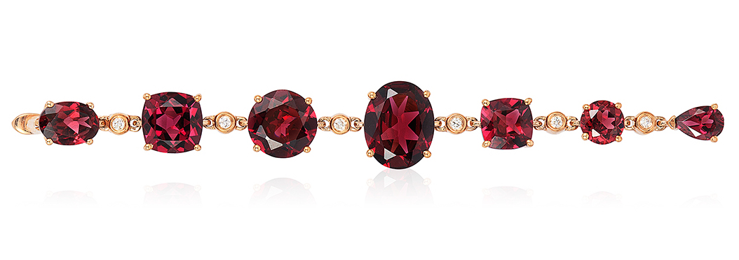 Effy Bordeaux collection rhodolite bracelet | JCK On Your Market