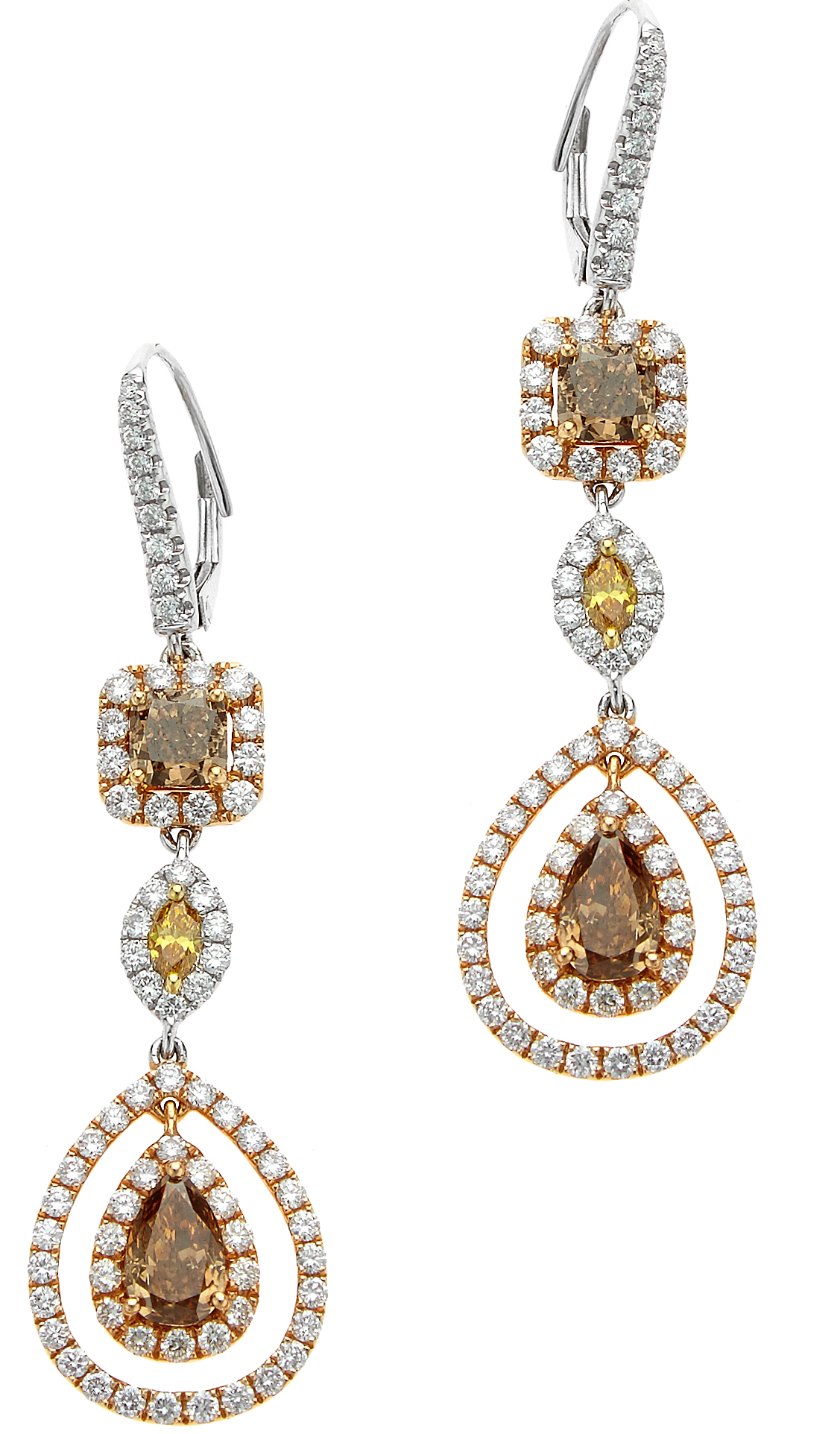 William Noble fancy diamond drop earrings | JCK On Your Market
