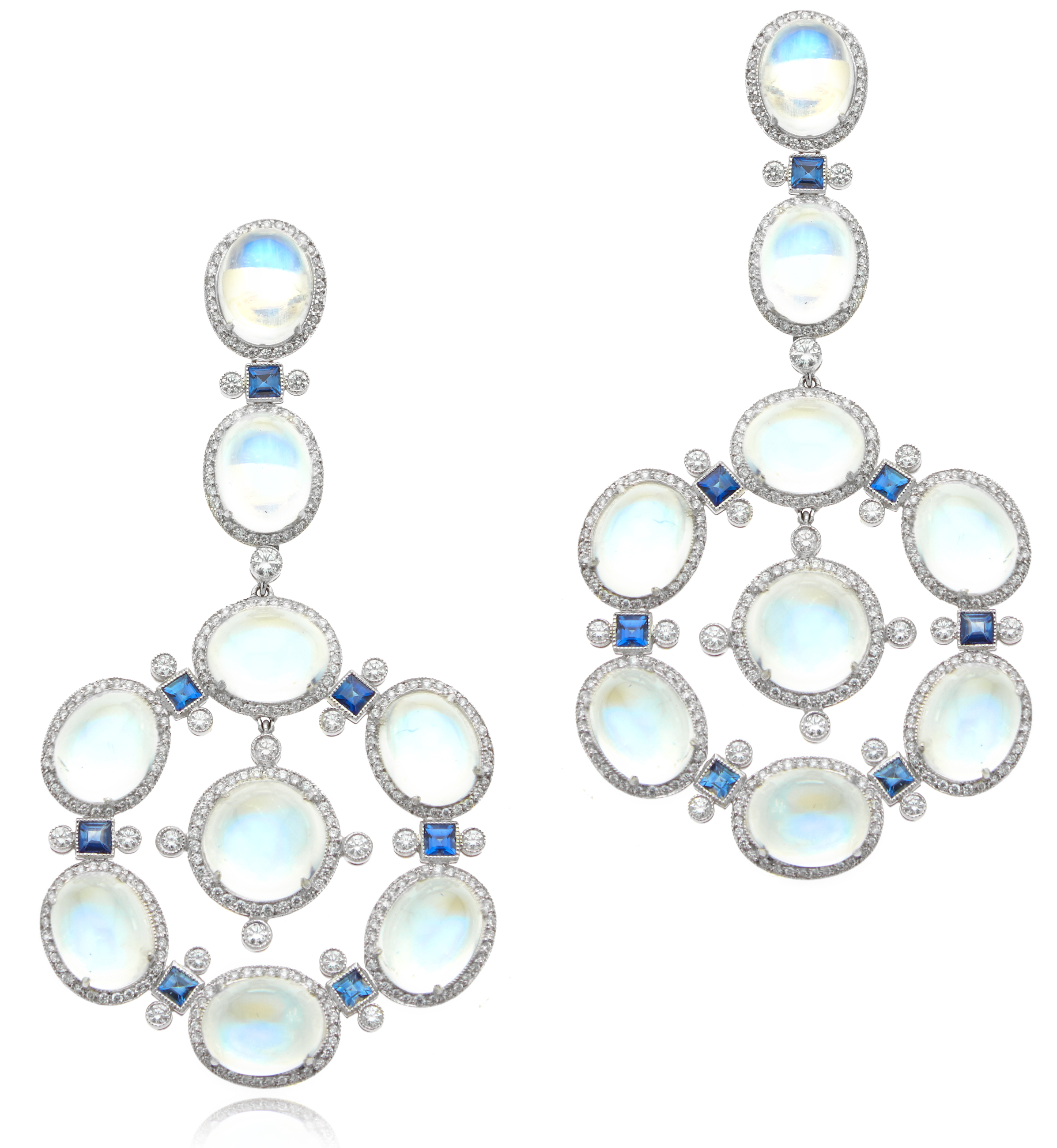 William Noble moonstone and sapphire drop earrings | JCK On Your Market