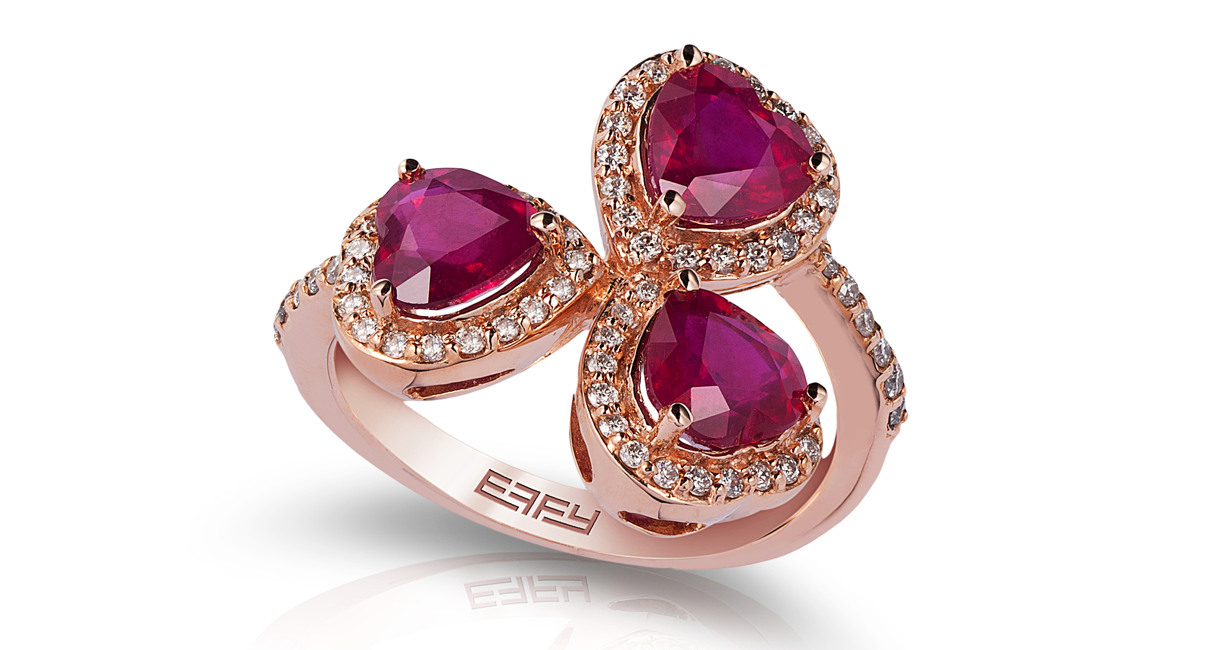 Effy ruby multi-heart ring | JCK On Your Market