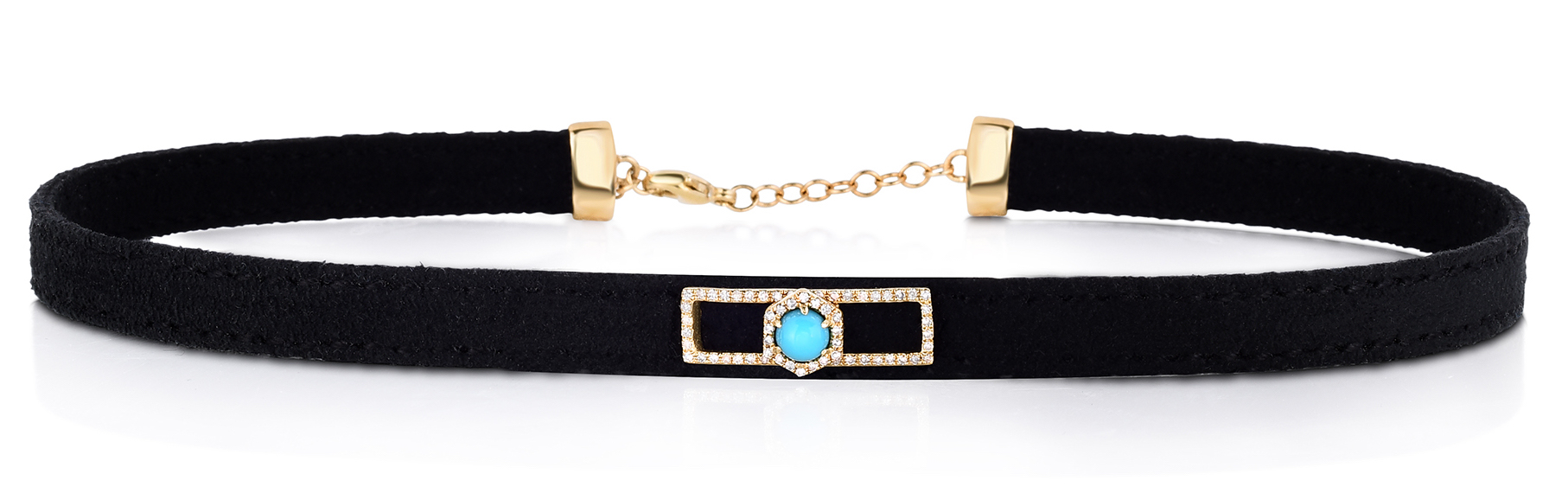 Fern Freeman suede choker necklace with turquoise | JCK On Your Market