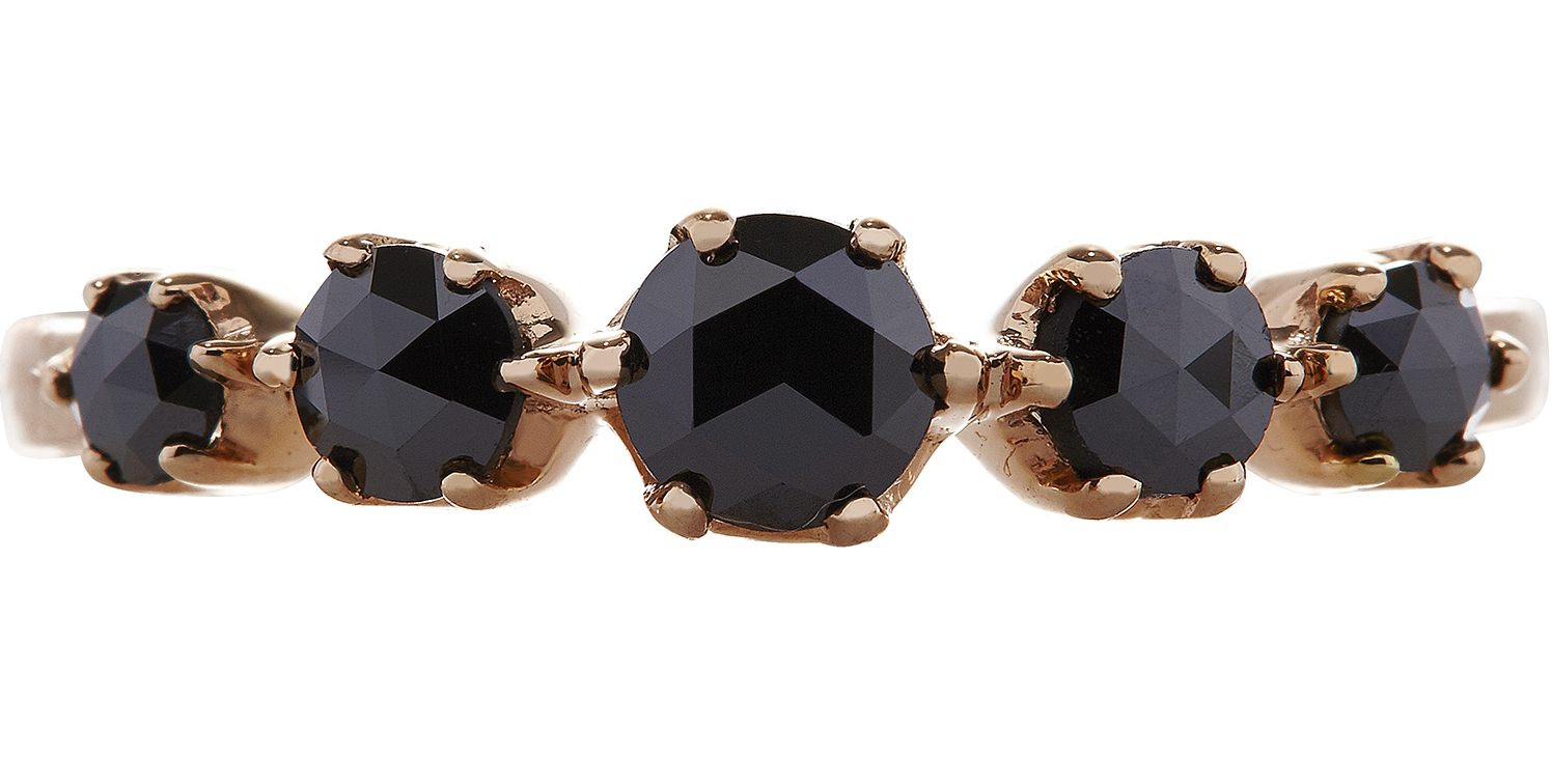Sethi Couture five-stone black diamond ring | JCK On Your Market