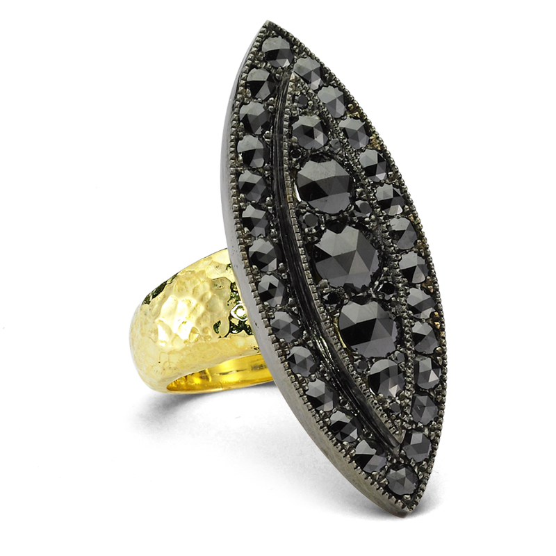 ZDNY black diamond ring | JCK On Your Market