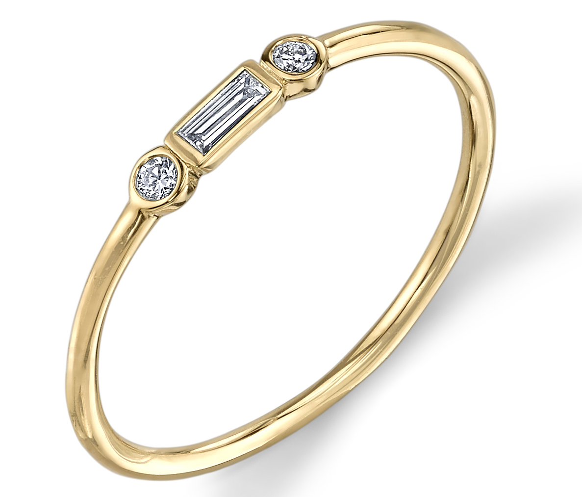Sydney Evan baguette and bezel ring | JCK On Your Market