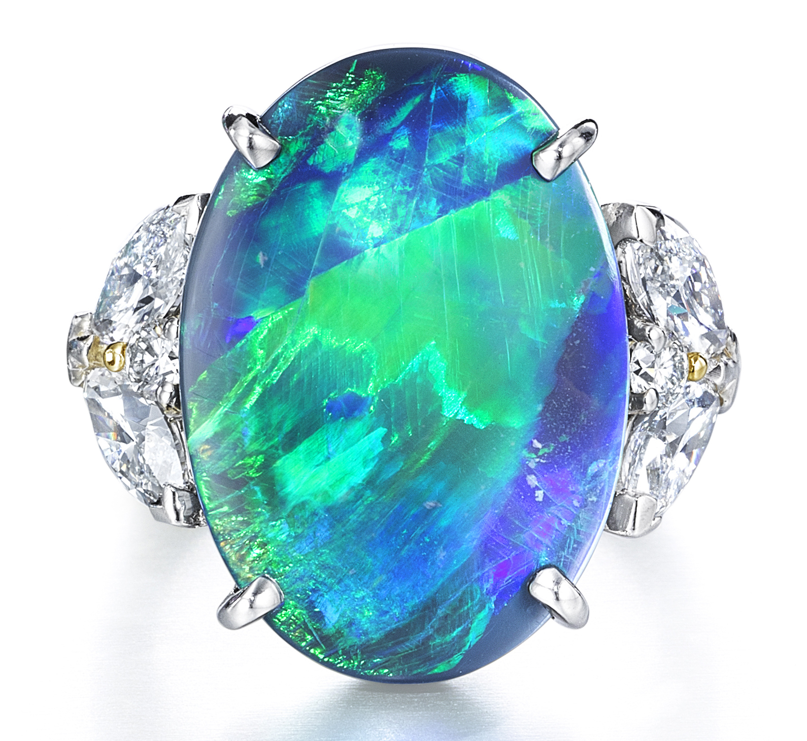 Oscar Heyman platinum black opal ring | JCK On Your Market