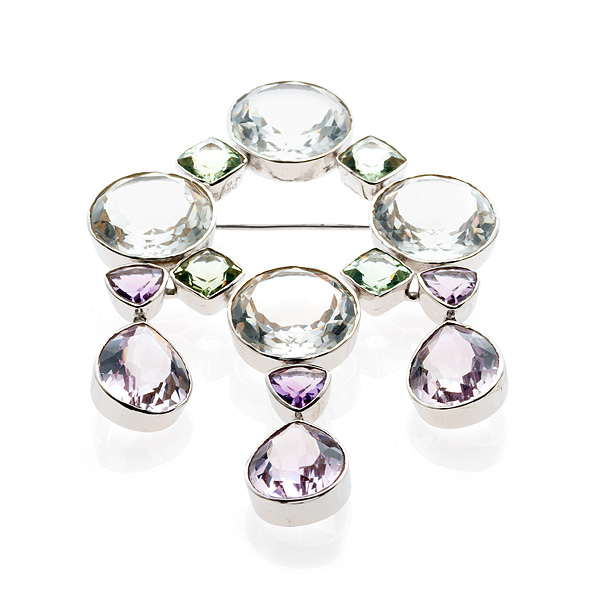 Bahina Jewels amethyst and rock crystal brooch | JCK On Your Market