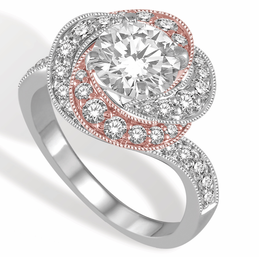 Ashi Diamonds two-tone twist diamond engagement ring | JCK On Your Market