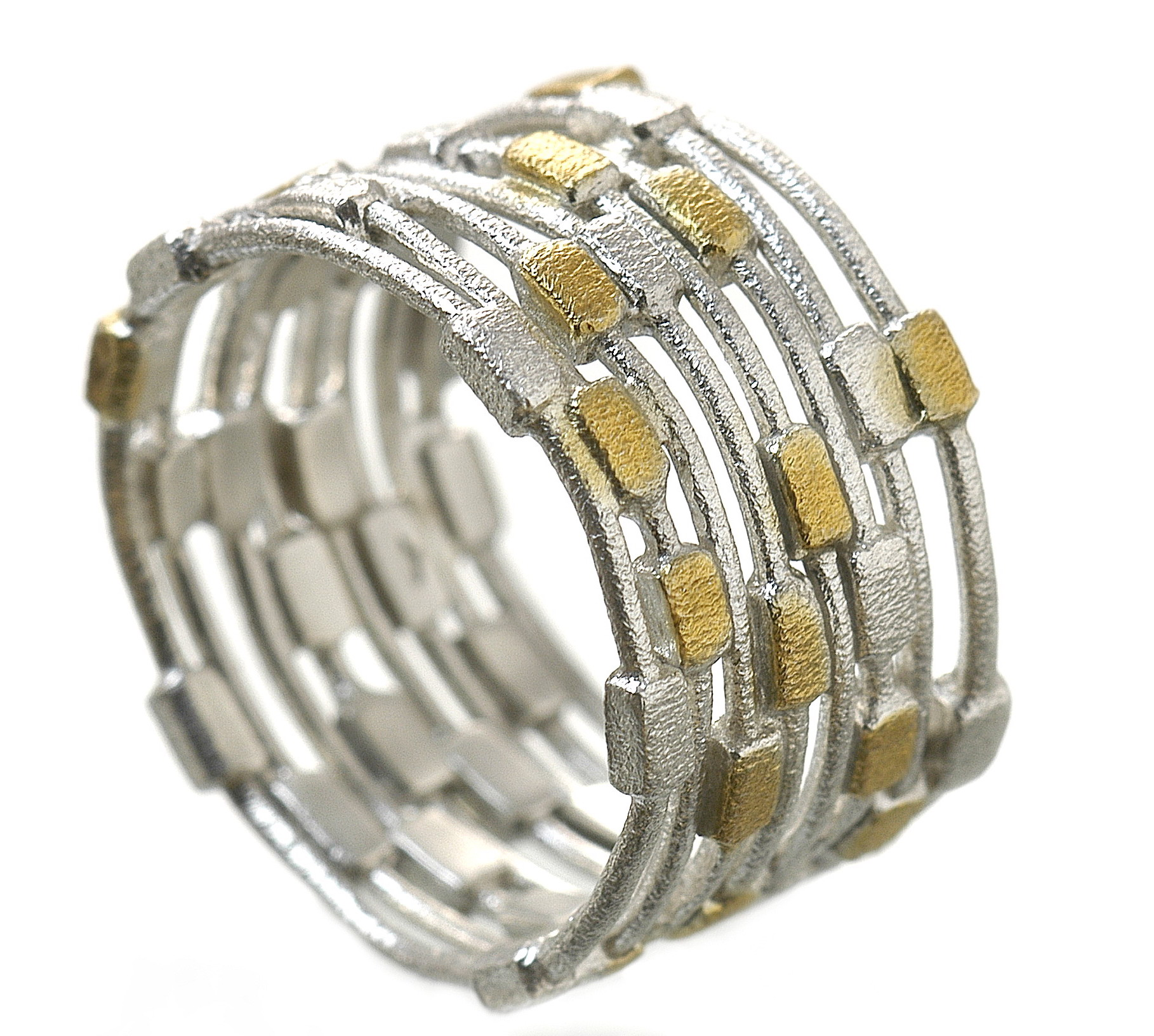 Eva Stone two-tone multi-band ring | JCK On Your Market