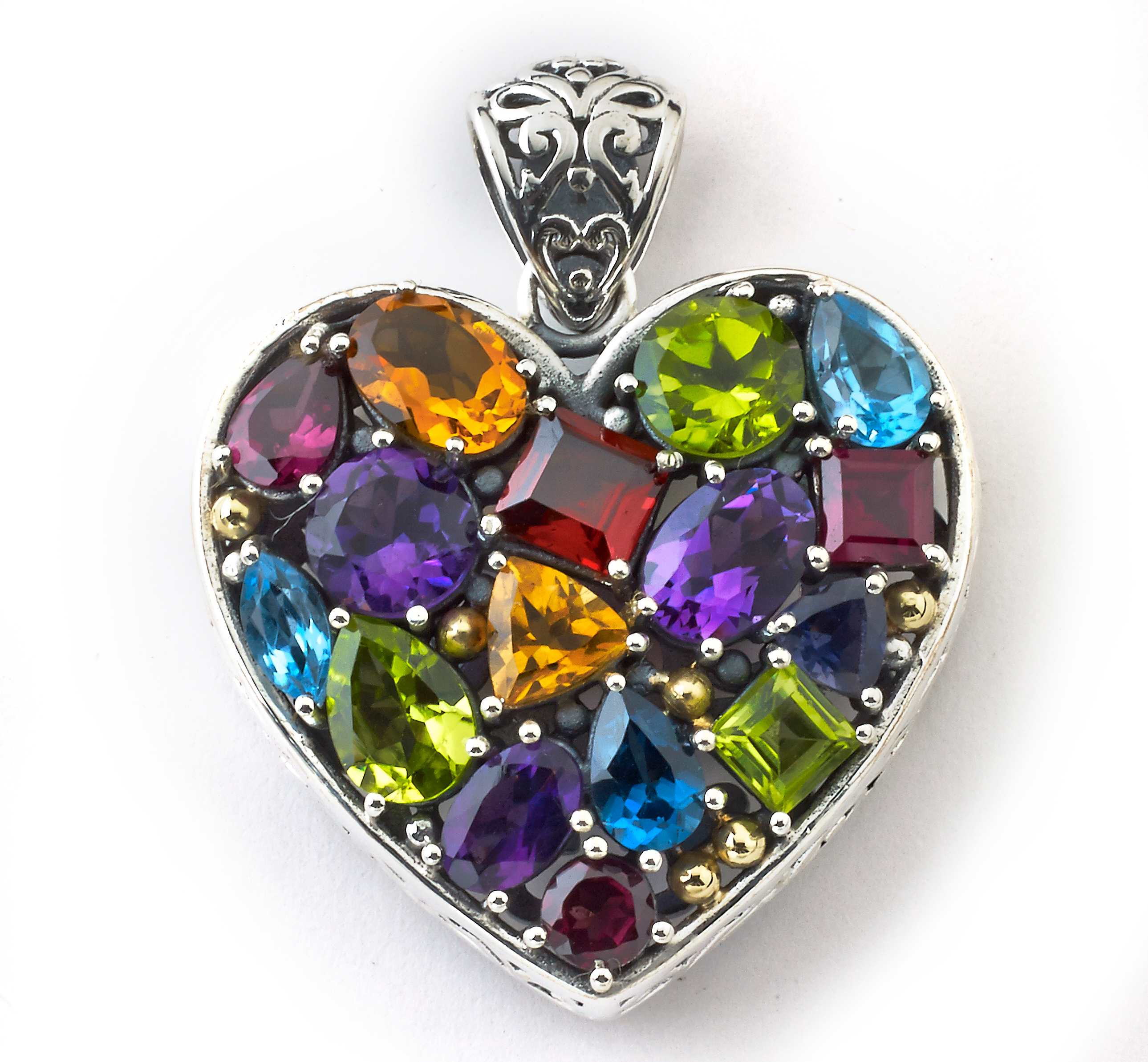 Samuel B Collection gemstone heart pendant | JCK On Your Market